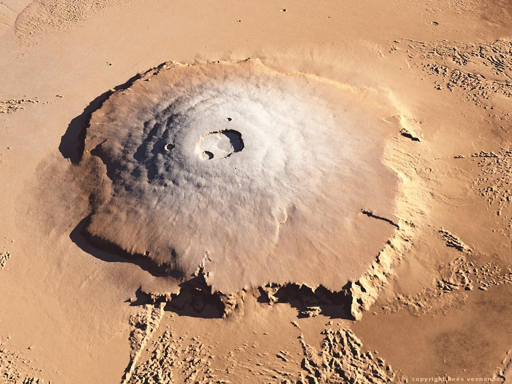 nasa mars volcano biggest one-#16